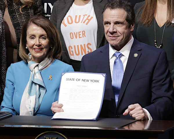 Pelosi Joins Cuomo for Signing of NY 'Red Flag Bill'