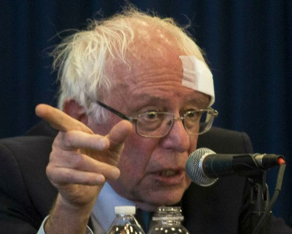 Bernie Sanders Hit Head on Shower Door, Needed Stitches