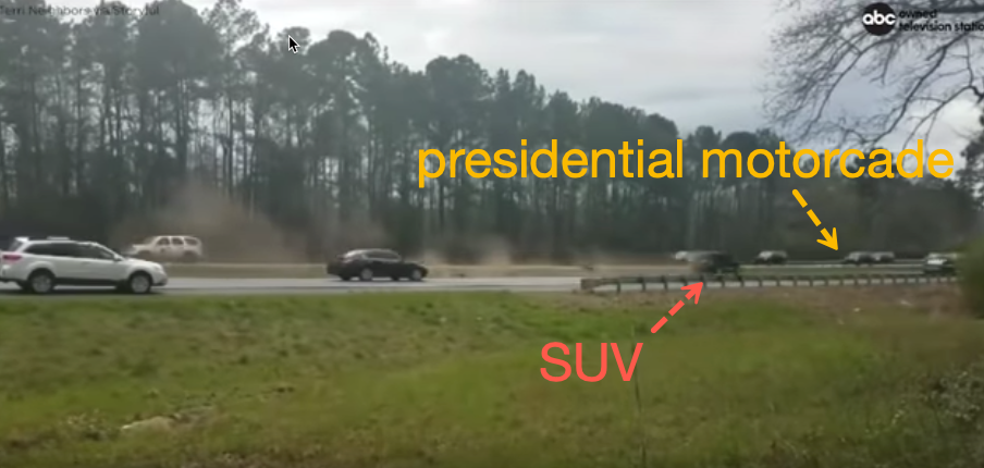 """""""Oh My God, Right At The President!"""": SUV Almost Hits Trump's Motorcade"""