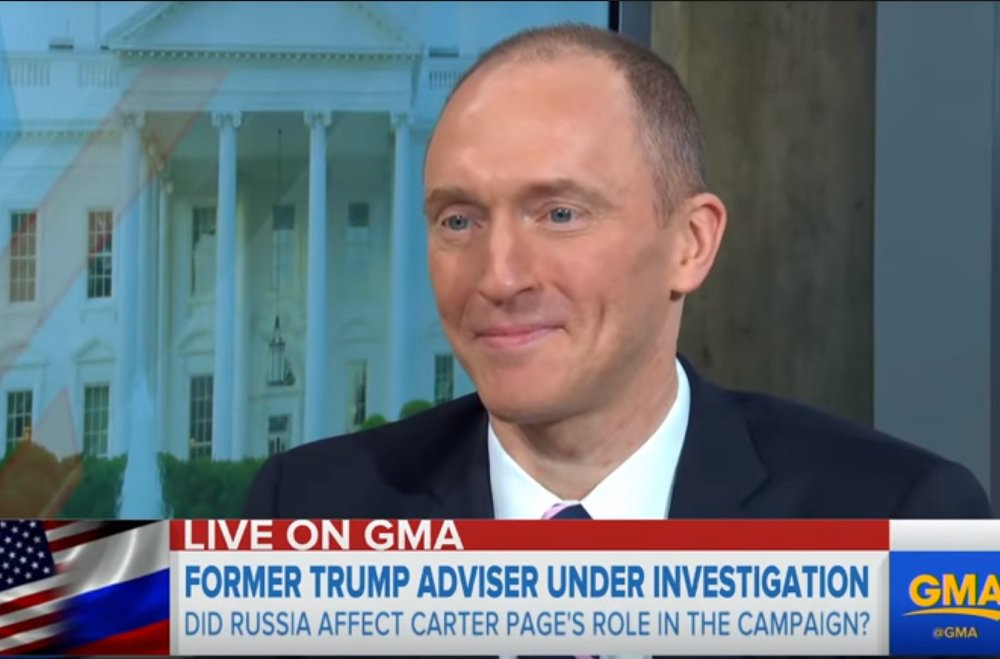 Carter Page: Obama's FBI, DOJ May Have Spied On Trump Admin, Not Just Campaign