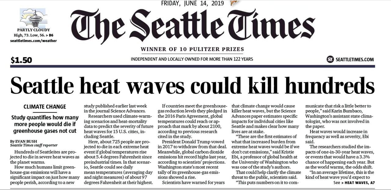 "Debunking Media Hysterics That ""Seattle Heat-Waves Could Kill Hundreds"""