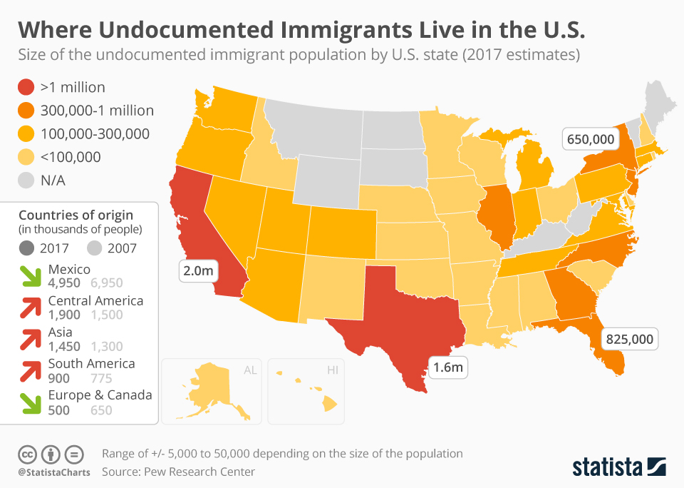 Where Do 'Undocumented' Immigrants Live In The US?