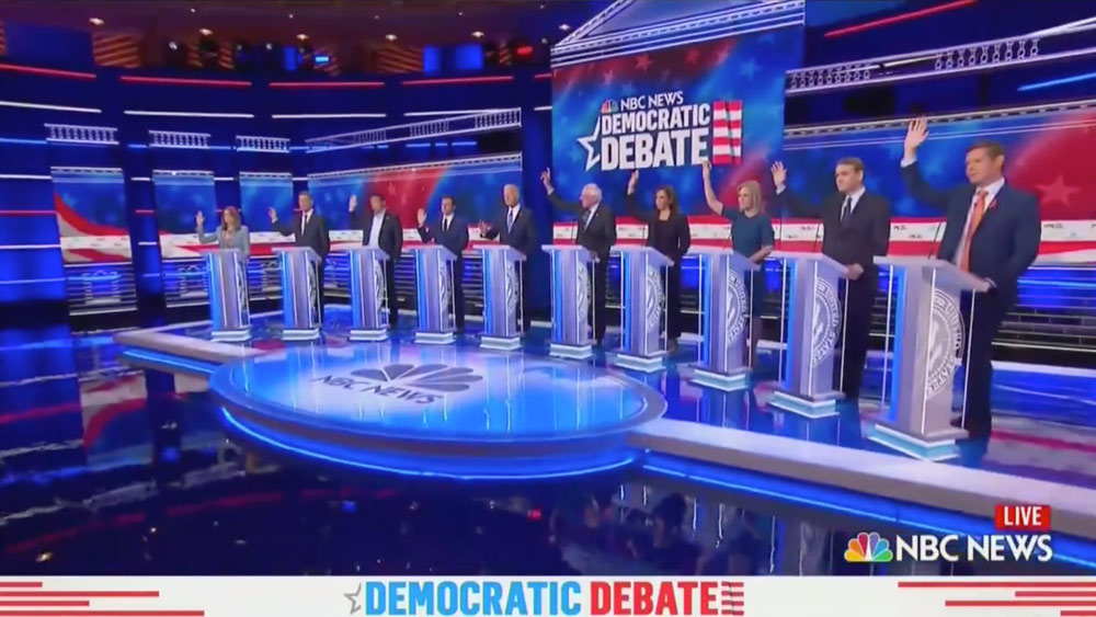 Watch: Every Single Dem Candidate Raises Their Hand In Favor of Free Healthcare For Illegals