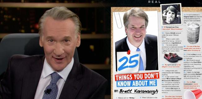 """What Were You Like At 17?"": Bill Maher Defends Brett Kavanaugh In Fiery Exchange With Guest"