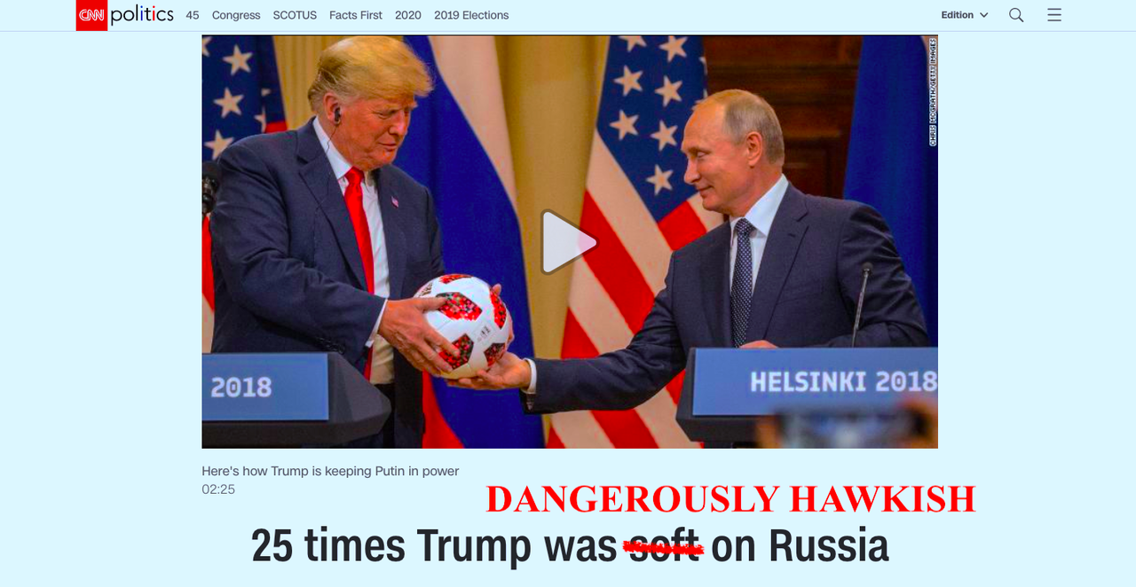 Sorry CNN, Here's 25 Times Trump Has Been 'Dangerously Hawkish' On Russia