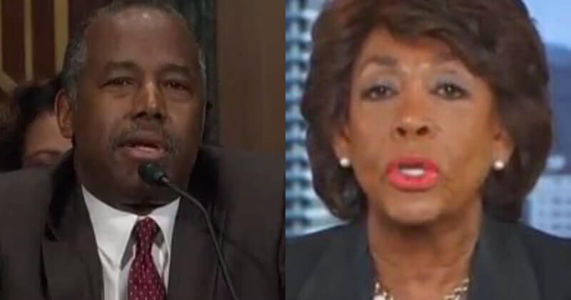 Ben Carson Scolds 'Shameless' Maxine Waters, 'Basic Manners Elude You'