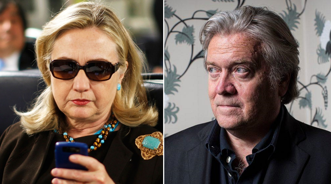 Bannon Says Hillary Will Run In 2020 To 'Save Democratic Party From Michael Bloomberg'