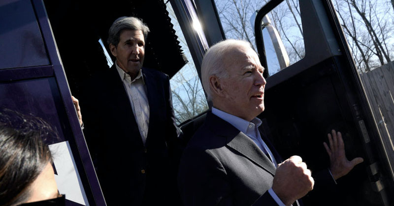 John Kerry Joins Joe Biden's 'No Malarky' Tour, Touts as Superhero Who Will 'Save the World'