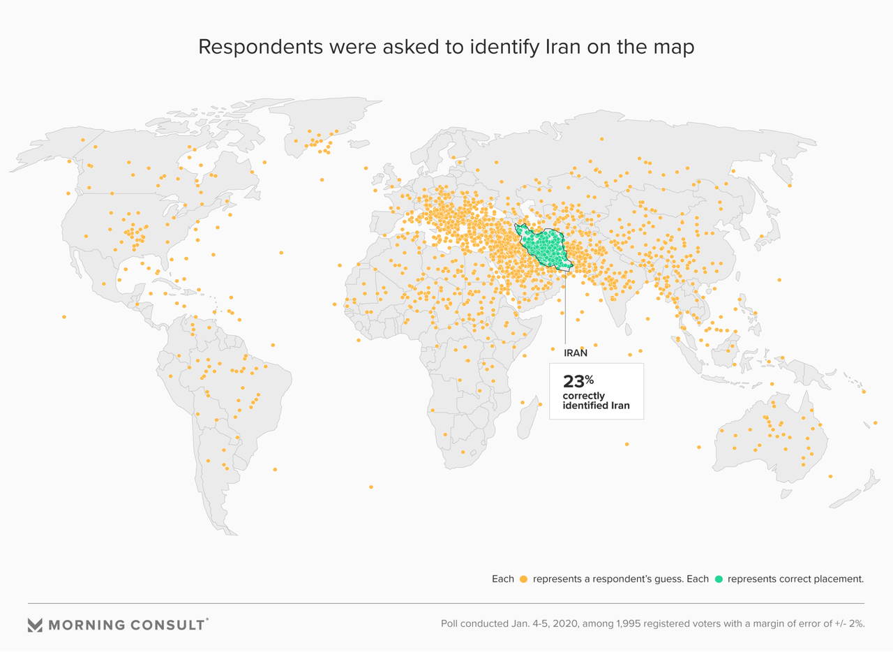 75% Of Registered Voters Can't Identify Iran On A Map