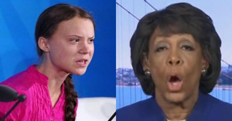 Hilarious! Maxine Waters Gets Duped In Prank Call By Fake Greta Thunberg Promising Dirt On Trump