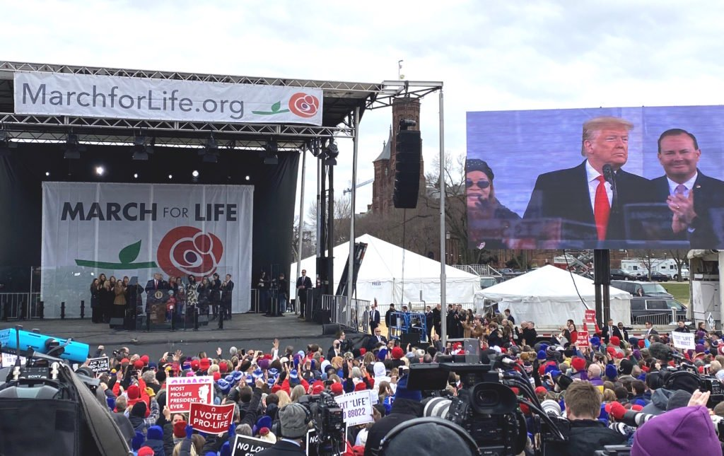 Trump Tells Pro-Lifers At March For Life: 'They're Coming After Me Because I'm Fighting For You'