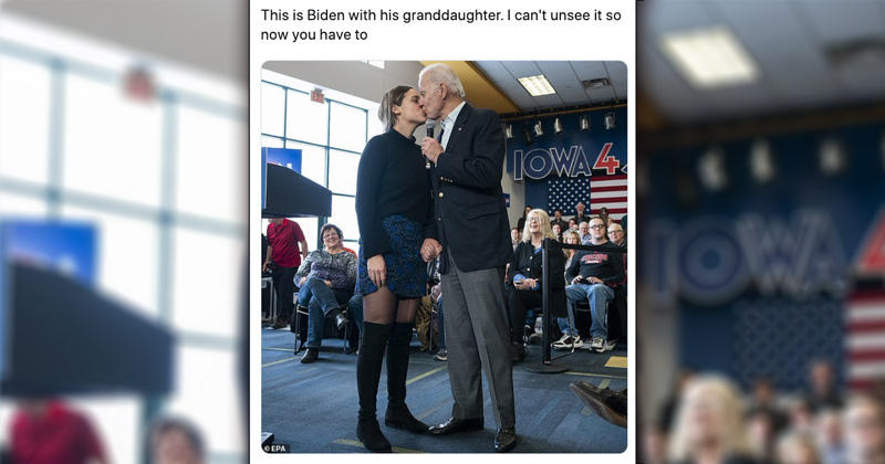 """Can't Unsee It"": Biden Kisses Granddaughter on Lips During Rally"