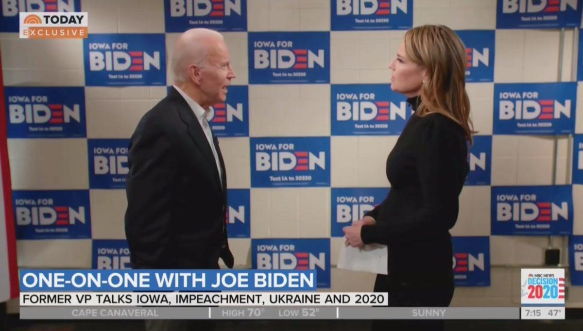 Watch Biden Snap At 'Today' Show Anchor Over Hunter & Burisma Questions